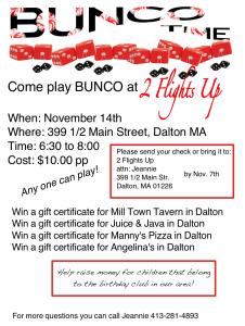 BUNCO Night for everyone!