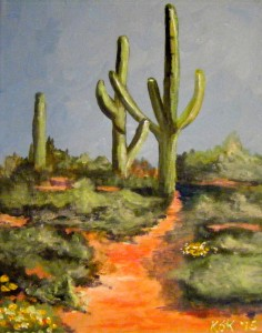 The Cactus from Arizona  Paint & Tea with Kathy Stocking-Koza