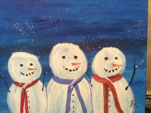 Your Snowmen Friday Dec. 11th at 6:15 PM Art instructor Jeannie Compter